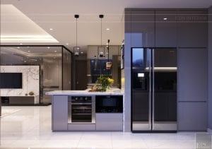 thiết kế nội thất hiện đại - phòng khách bếp 12