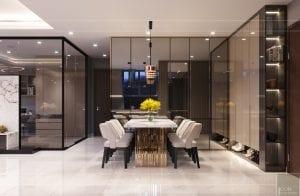 thiết kế nội thất hiện đại - phòng khách bếp 7