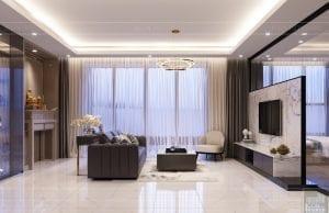 thiết kế nội thất hiện đại - phòng khách bếp 3