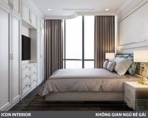 phong cách nội thất tân cổ điển pháp - phòng ngủ 1