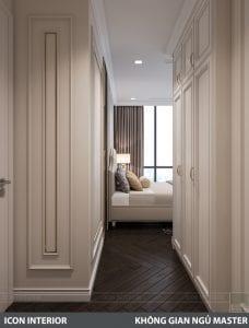 phong cách nội thất tân cổ điển pháp - phòng ngủ master 1