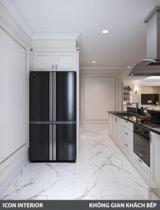 phong cách nội thất tân cổ điển pháp - phòng khách bếp 11