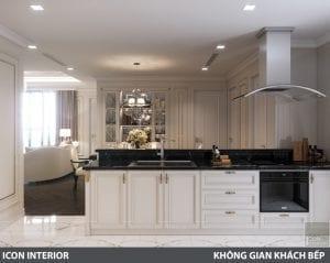phong cách nội thất tân cổ điển pháp - phòng khách bếp 10