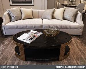 phong cách nội thất tân cổ điển pháp - phòng khách bếp 5