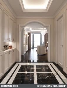 phong cách nội thất tân cổ điển pháp - phòng khách bếp 1