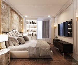 thiết kế sky villa landmark 81 - phòng ngủ master 3
