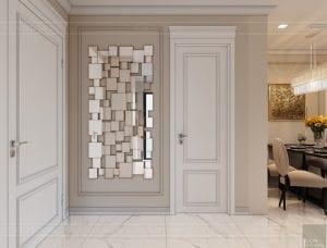 thiết kế sky villa landmark 81 - phòng khách bếp 2