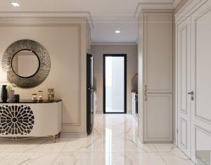 thiết kế sky villa landmark 81 - phòng khách bếp 3
