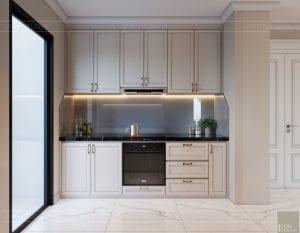 thiết kế sky villa landmark 81 - phòng khách bếp 11