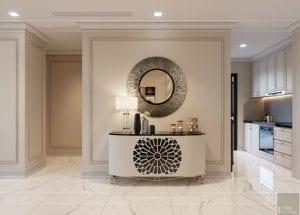 thiết kế sky villa landmark 81 - phòng khách bếp 4