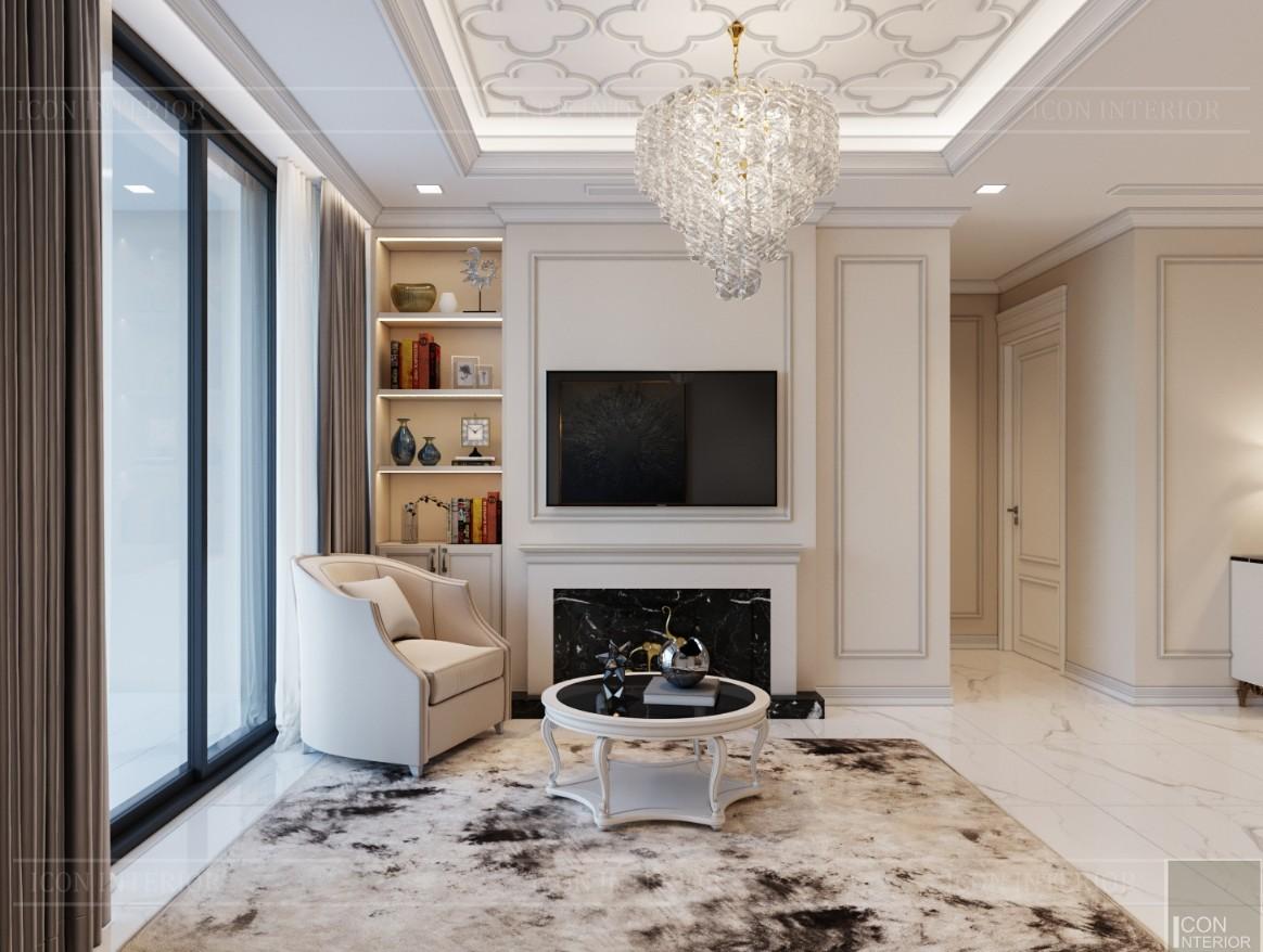 thiết kế sky villa landmark 81 - phòng khách bếp 6