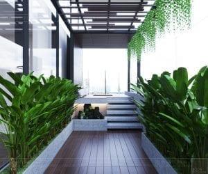 thiết kế sky villa landmark 81 - sân vườn 1