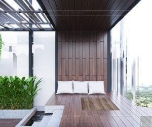 thiết kế sky villa landmark 81 - sân vườn 3