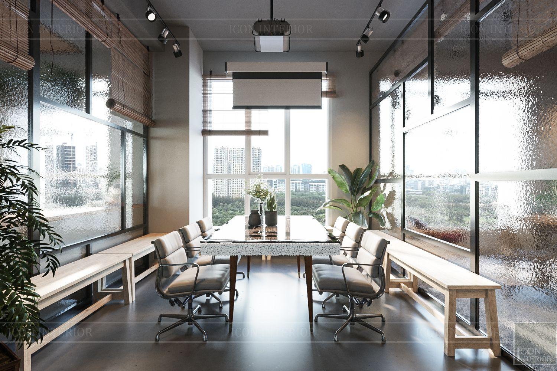 thiết kế nội thất văn phòng phong cách công nghiệp 13