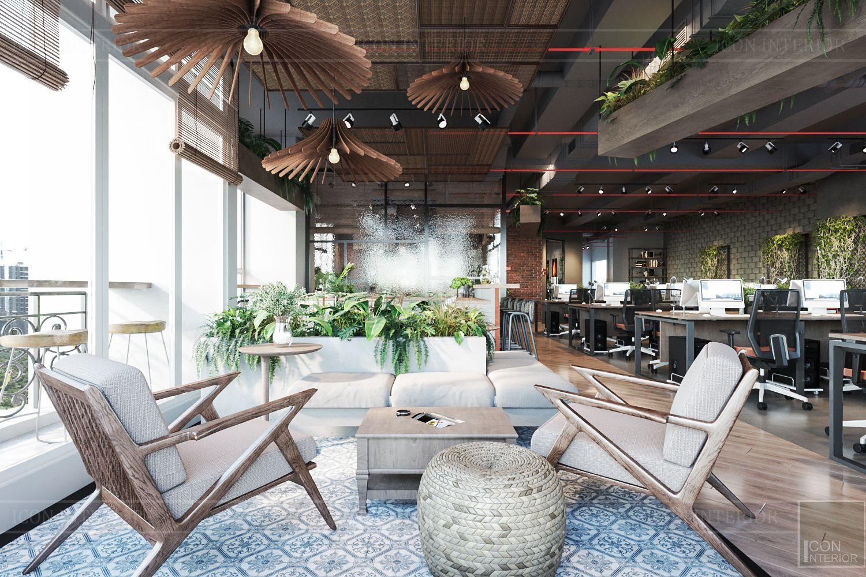 thiết kế nội thất văn phòng phong cách công nghiệp 15
