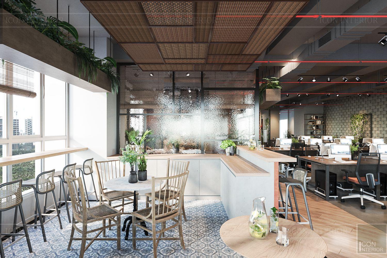 thiết kế nội thất văn phòng phong cách công nghiệp 17