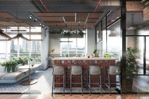 thiết kế nội thất văn phòng phong cách công nghiệp 18
