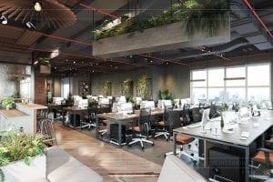 thiết kế nội thất văn phòng phong cách công nghiệp 3