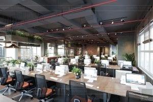 thiết kế nội thất văn phòng phong cách công nghiệp 4