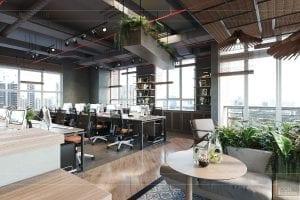 thiết kế nội thất văn phòng phong cách công nghiệp 5