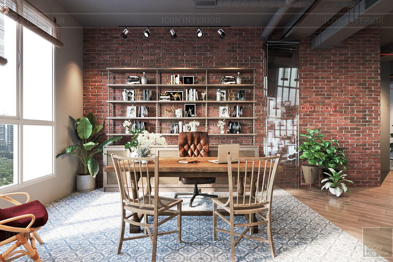 thiết kế nội thất văn phòng phong cách công nghiệp 7
