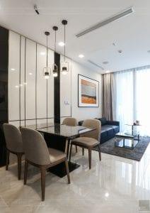 thi công căn hộ 1 phòng ngủ 50m2 - phòng khách bếp 2