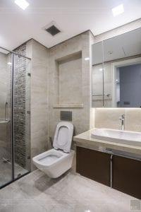 thi công căn hộ 1 phòng ngủ 50m2 - phòng vệ sinh