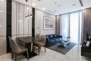 thi công căn hộ 1 phòng ngủ 50m2 - phòng khách bếp 4
