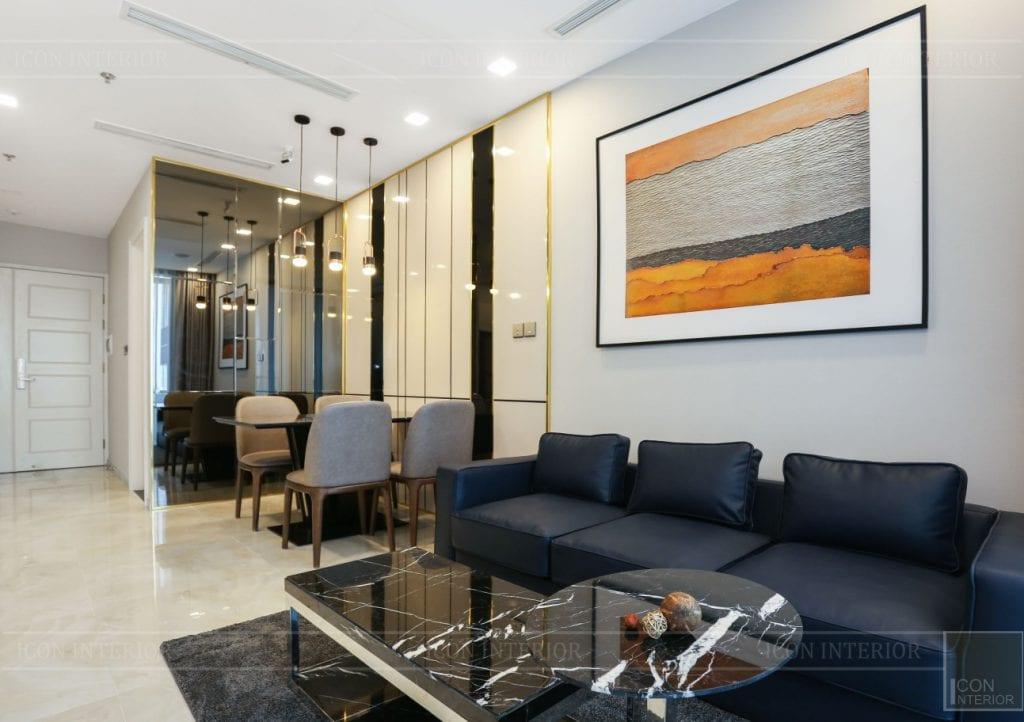thi công căn hộ 1 phòng ngủ 50m2 - phòng khách bếp 5