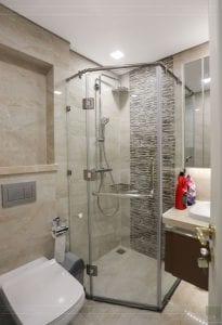 thi công aqua 2 vinhomes golden river - phòng tắm
