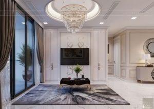 Thiết kế nội thất căn hộ cao cấp Landmark 81 - phòng khách bếp 10