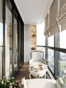 Thiết kế nội thất căn hộ cao cấp Landmark 81 - ban công