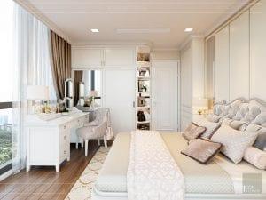 Thiết kế nội thất căn hộ cao cấp Landmark 81 - phòng ngủ nhỏ 7