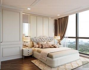 Thiết kế nội thất căn hộ cao cấp Landmark 81 - phòng ngủ nhỏ 4