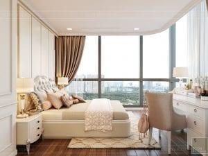 Thiết kế nội thất căn hộ cao cấp Landmark 81 - phòng ngủ nhỏ 5
