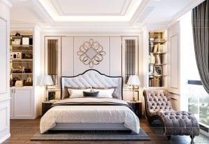 Thiết kế nội thất căn hộ cao cấp Landmark 81 - phòng ngủ master 2