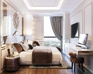Thiết kế nội thất căn hộ cao cấp Landmark 81 - phòng ngủ master 3