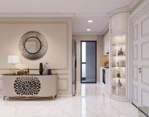 Thiết kế nội thất căn hộ cao cấp Landmark 81 - phòng khách bếp 2