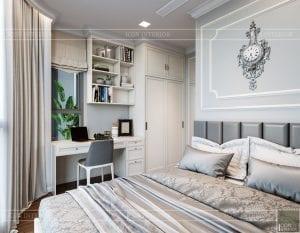 Thiết kế nội thất căn hộ cao cấp Landmark 81 - phòng ngủ nhỏ 1