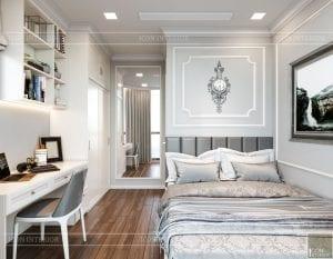 Thiết kế nội thất căn hộ cao cấp Landmark 81 - phòng ngủ nhỏ 2