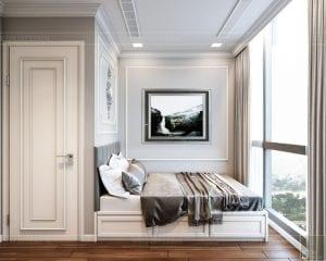 Thiết kế nội thất căn hộ cao cấp Landmark 81 - phòng ngủ nhỏ 3