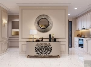 Thiết kế nội thất căn hộ cao cấp Landmark 81 - phòng khách bếp 3