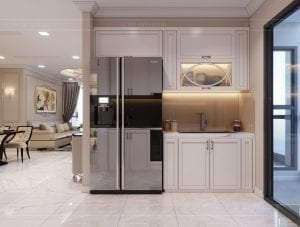 Thiết kế nội thất căn hộ cao cấp Landmark 81 - phòng khách bếp 5