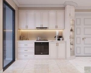 Thiết kế nội thất căn hộ cao cấp Landmark 81 - phòng khách bếp 6