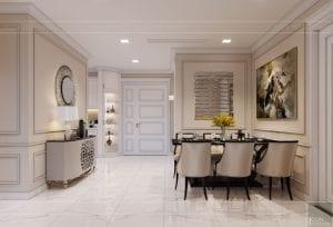 Thiết kế nội thất căn hộ cao cấp Landmark 81 - phòng khách bếp 7