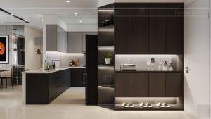 căn hộ estella heights 3 phòng ngủ - phòng bếp