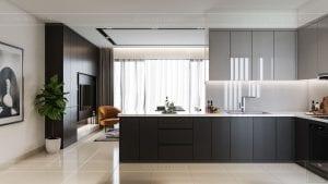 căn hộ estella heights 3 phòng ngủ - nhà bếp