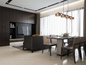 căn hộ estella heights 3 phòng ngủ - phòng khách bếp 1