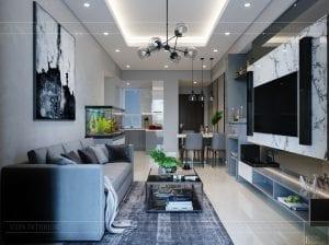 căn hộ richstar 3 phòng ngủ - phòng khách bếp 5