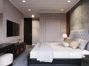 thiết kế căn hộ nội thất phương đông - phòng ngủ 3